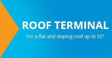 Ubbink Roof gutter for flat and pitched roofs up to 55 degrees can be purchased cheaply from Ventilationland
