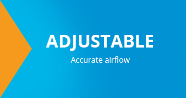 Adjustable, accurate airflow