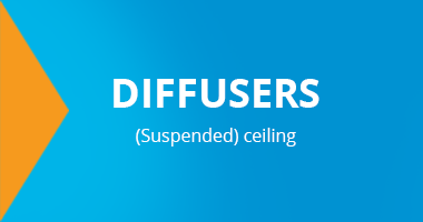 Diffusers suspended ceiling