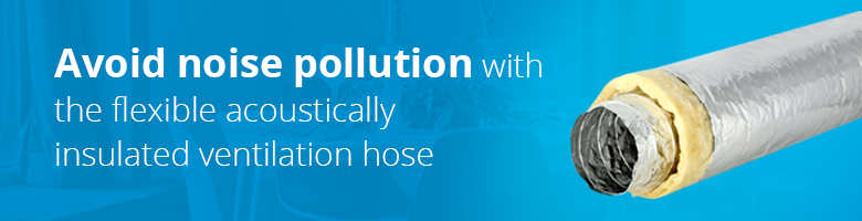 With Sonodec acoustically insulated ventilation hoses you reduce the noise in your ventilation system.