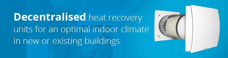 For optimum ventilation with heat recovery in a single room