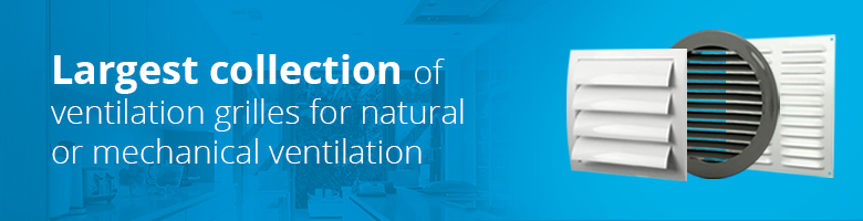 You will find the widest range of ventilation grilles inexpensively at Ventilationland