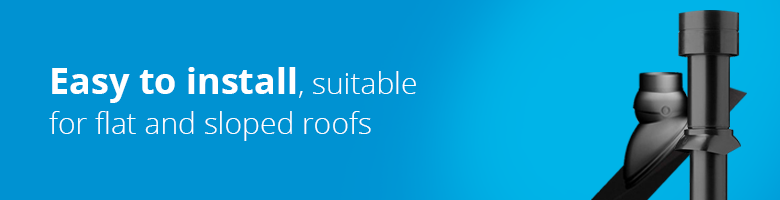 The Ubbink roof gutter has the easiest installation and is suitable for both flat and pitched roofs.