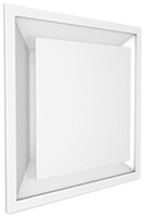 Ceiling diffusers with adjustable core for supply and extract air