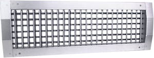 Duct grilles with double adjustable vanes