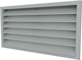 External wall grilles galvanised steel