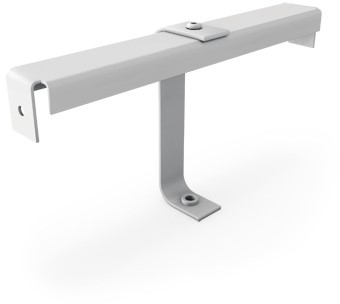 Mounting bracket for grille with central screw fixing - 125 mm