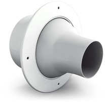 Jet diffusers for wall mounting with spigot on straight air duct