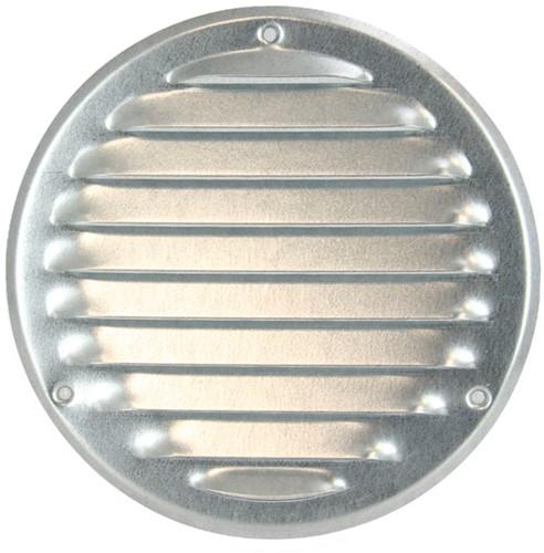 Metal ventilation grille round Ø 125mm zinc - MR125ZN