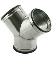Spiral pipe Y-piece 45°