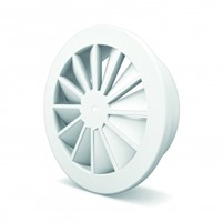 Swirl diffusers with fixed vanes