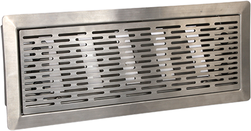 UniflexPlus ventilation adjustable floor grille with slots – POLISHED STAINLESS STEEL