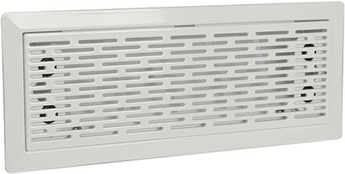 UniflexPlus ventilation adjustable floor grille with slots – WHITE