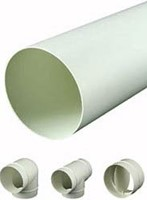 Ventilation tubes and fittings plastic