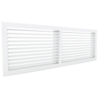 Wall grilles with fixed vanes