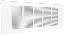 Wall grilles with punched vanes