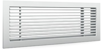 Bar grille for wall mounting with clamping springs - 400x50 mm