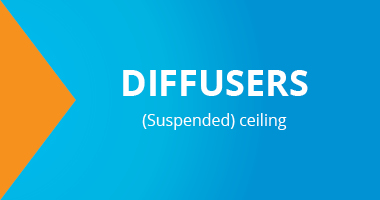 Diffusers, suspended ceiling