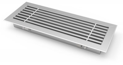 Bar grille for floor mounting with clamping springs - 400x150 mm