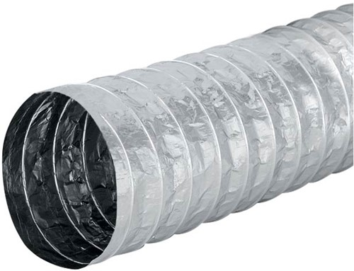Aludec 100 mm uninsulated flexible hose (10 metres)