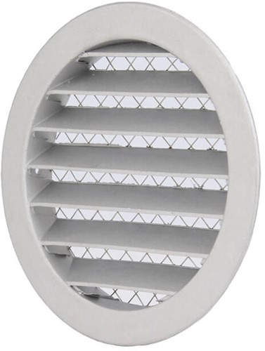 Aluminium external air wall grille Ø 100mm - MRA100