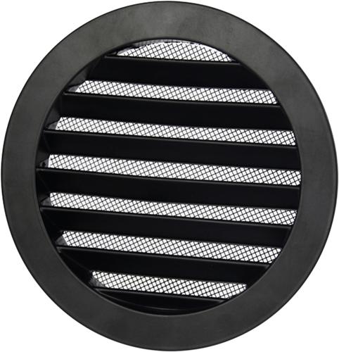 Outside air ventilation grilles aluminium - Ø 200mm- Black