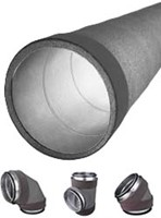 Thermoduct insulated spiral pipe and fittings