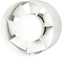 Inline tube fan plastic