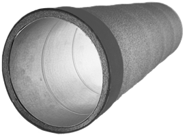 Insulated spiral pipe