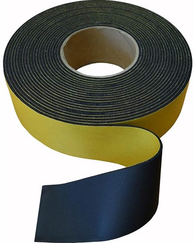 Insulationtape 75mm neutral - black - roll 15m