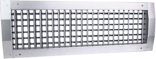 Duct grille double adjustable 525x225 mm for supply - spiral pipe diameter 630-1400 mm