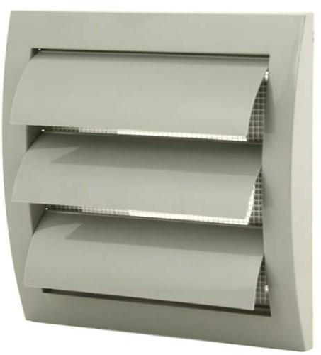 Gravity grille overpressure ventilation grille 150x150 diameter: 100 grey - ND10ZP