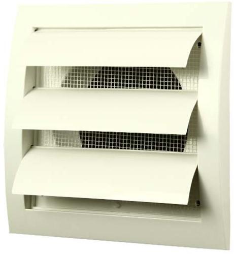 Gravity grille overpressure ventilation grille 150x150 diameter: 100 white - ND10Z