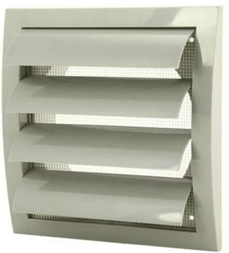 Gravity grille overpressure ventilation grille 190x190 diameter: 125 grey - ND12ZP