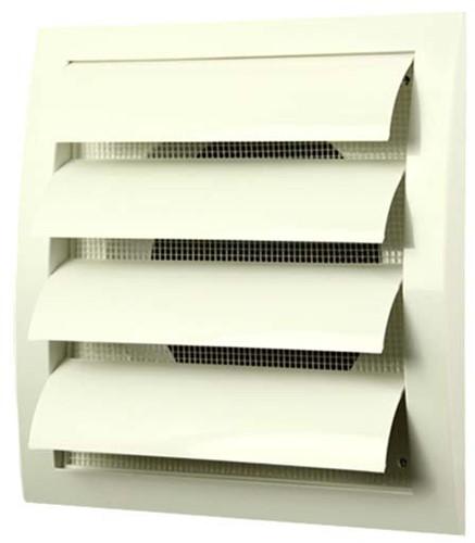 Gravity grille overpressure ventilation grille 190x190 diameter: 125 white - ND12Z