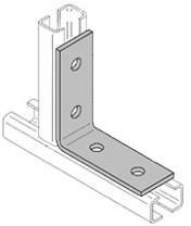 Hoek 35/36 90 graden 4-gaats (Ø10,5mm) verzinkt voor ophangrail