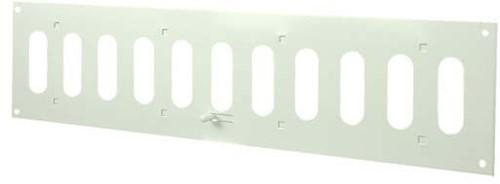Metal adjustable rectangular slot diffuser 400x100 white - MR4010R