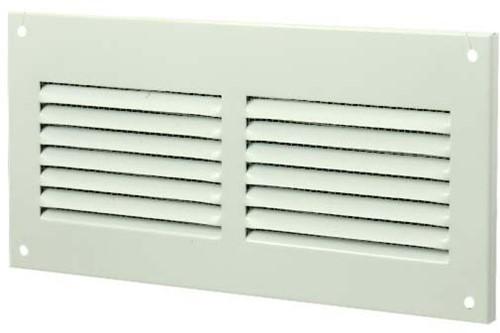 Metal ventilation grille rectangular 200x100 white - MR2010