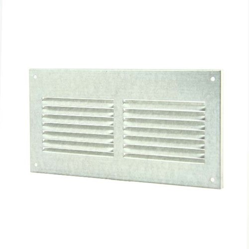 Metal ventilation grille rectangular 200x100 zinc - MR2010ZN