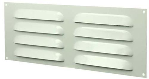 Metal ventilation grille rectangular 260x105 white - MR26105
