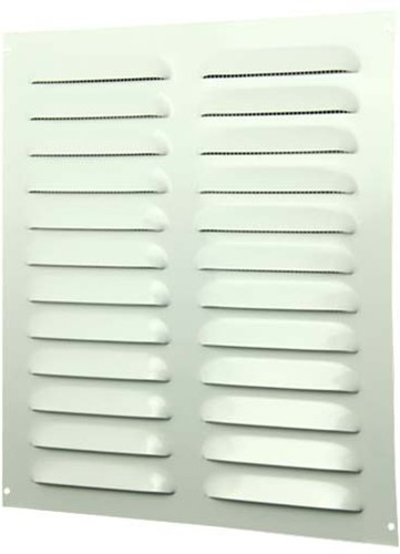 Metal ventilation grille rectangular 260x280 white - MR2628