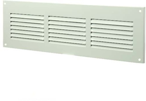 Metal ventilation grille rectangular 300x100 white - MR3010