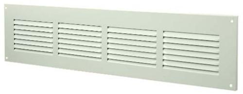 Metal ventilation grille rectangular 400x100 white - MR4010