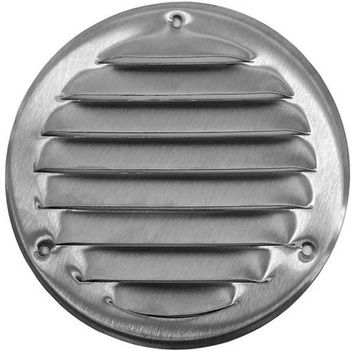 Metal ventilation grille round Ø 100mm zinc - MR100ZN