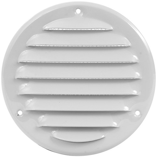 Metal ventilation grille round Ø 100mm white - MR100