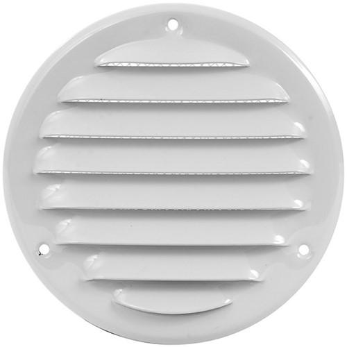 Metal ventilation grille round Ø 125mm white - MR125