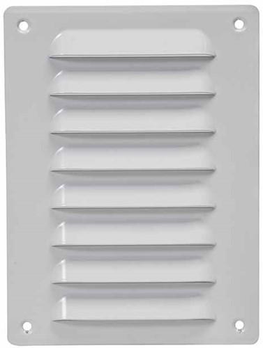 Metal ventilation grille rectangular 140x190 white - MR1419