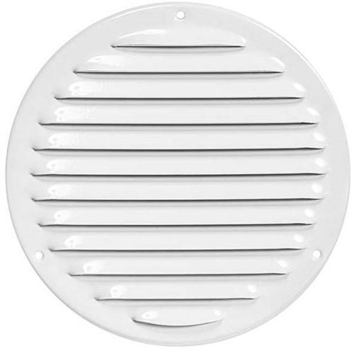 Metal ventilation grille round Ø 160mm white - MR160