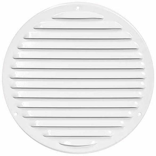 Metal ventilation grille round Ø 200mm white - MR200