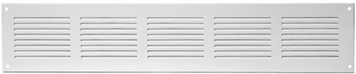 Metal ventilation grille rectangular 500x100 white - MR5010